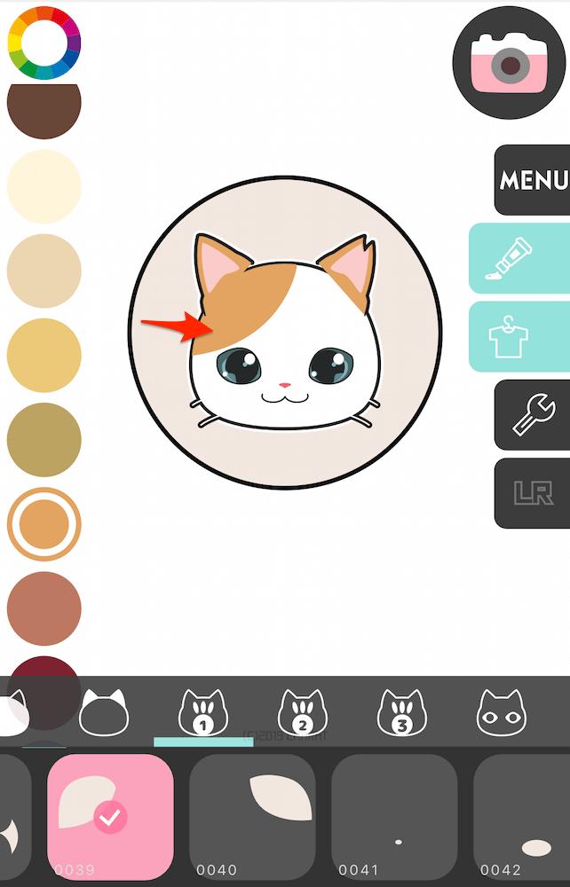 猫の毛柄の選択手順1 by 猫アイコンジェネレーター「CHARATねこメーカー2」