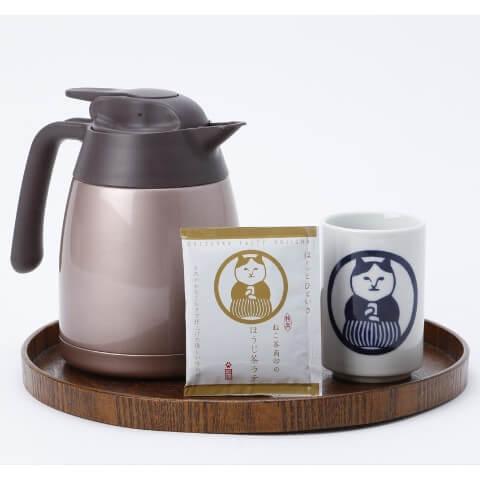 ねこ茶商印のほうじ茶ラテ、製品パッケージ