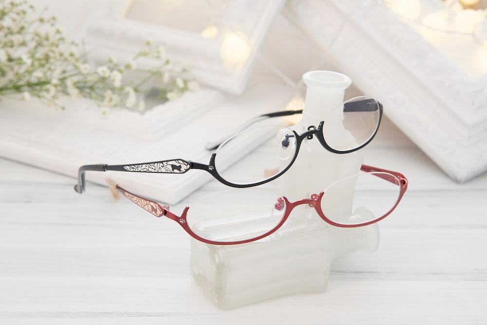 猫デザインの眼鏡「Happy Trail」ハッピートレイル~猫のしっぽ~