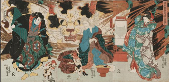 歌川国芳「日本駄右ェ門猫之古事」/個人蔵