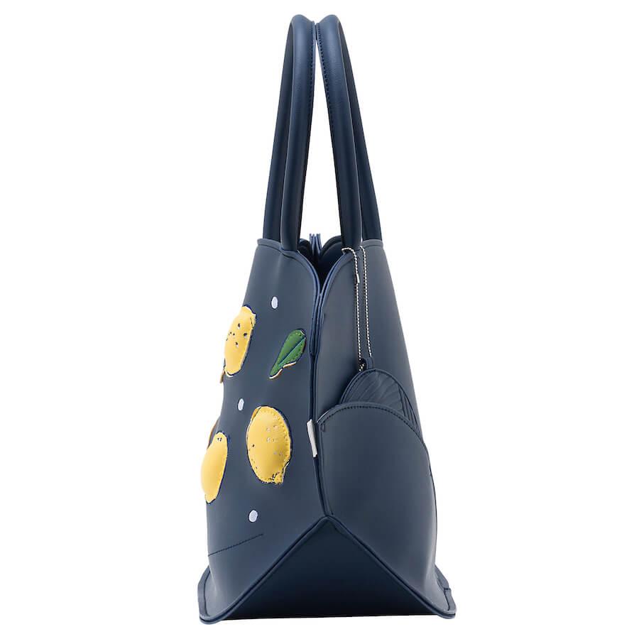 猫デザインのトートバッグ「EU.デリ.モンシャ-C(Citron/シトロン)」の側面イメージ
