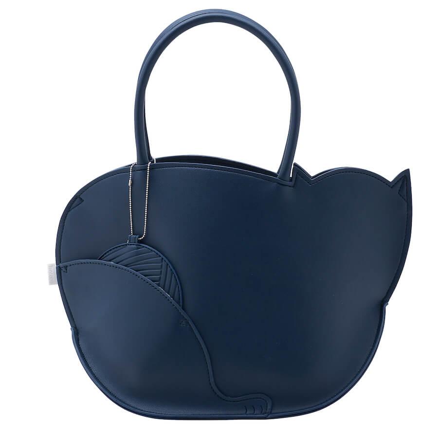 猫デザインのトートバッグ「EU.デリ.モンシャ-C(Citron/シトロン)」の背面イメージ