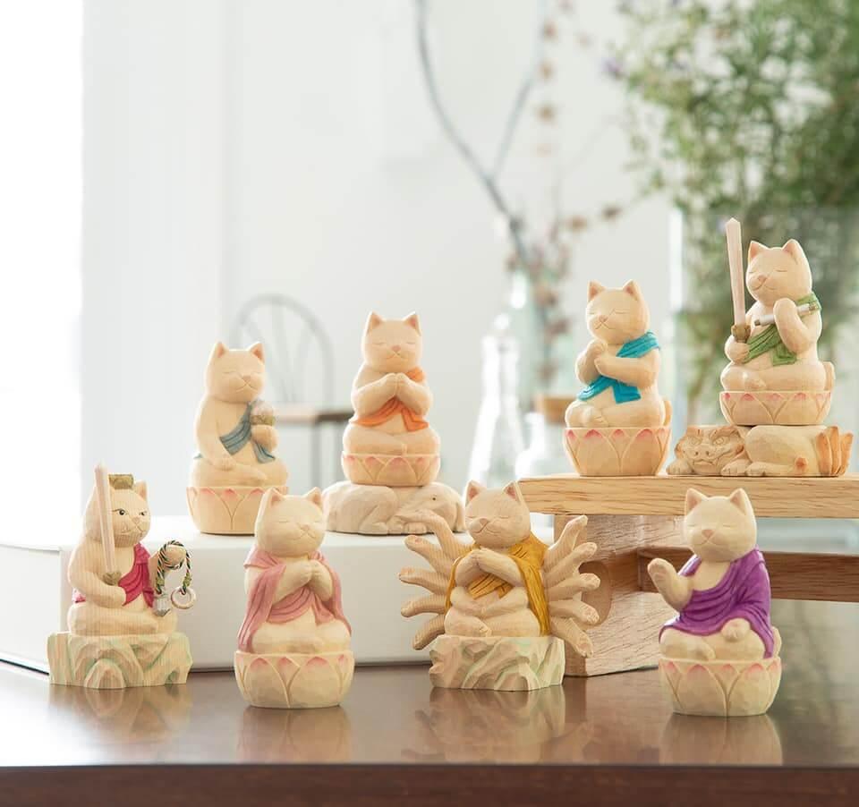 仏屋さかいが制作した猫の仏像「猫仏」の作品イメージ in 大猫仏展