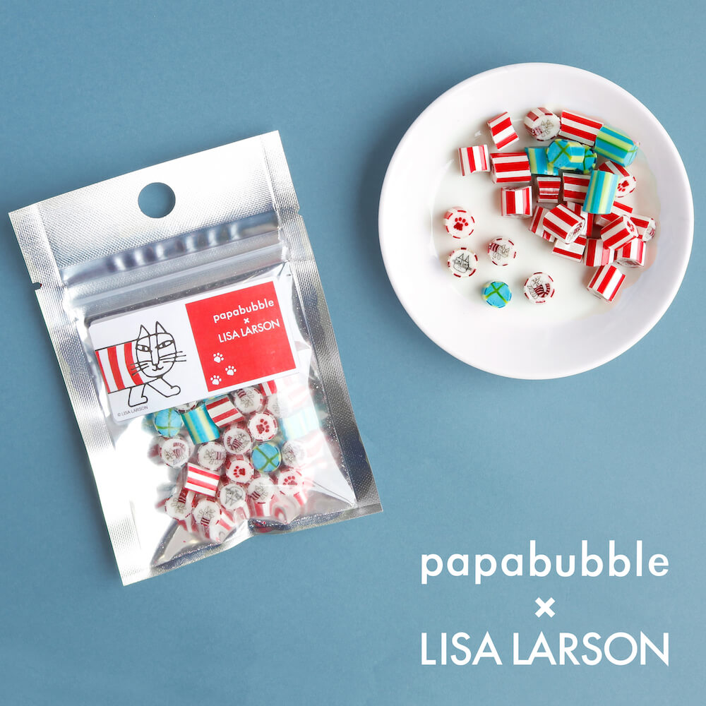 マイキーの誕生日記念「パパブブレ」×「リサ・ラーソン」のコラボキャンディ