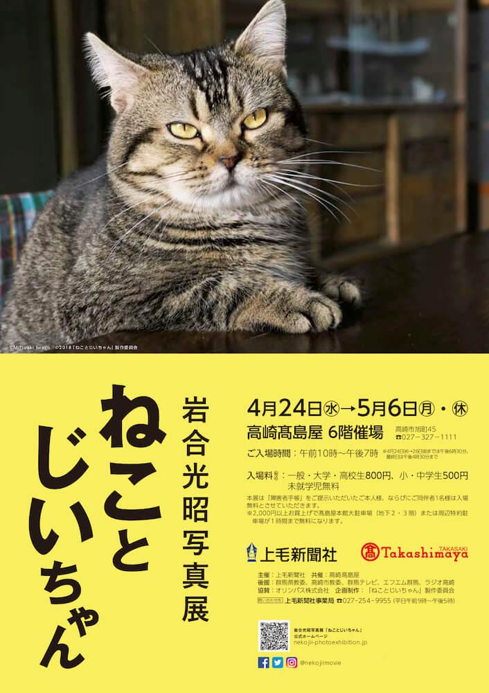 岩合光昭写真展「ねことじいちゃん」in 高崎タカシマヤのメインビジュアル