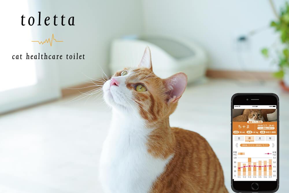 スマート猫トイレ「toletta(トレッタ)」の製品メインビジュアル