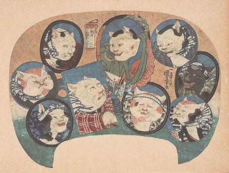 歌川国芳/猫の百めんそう/1841年頃(前期展示作品)