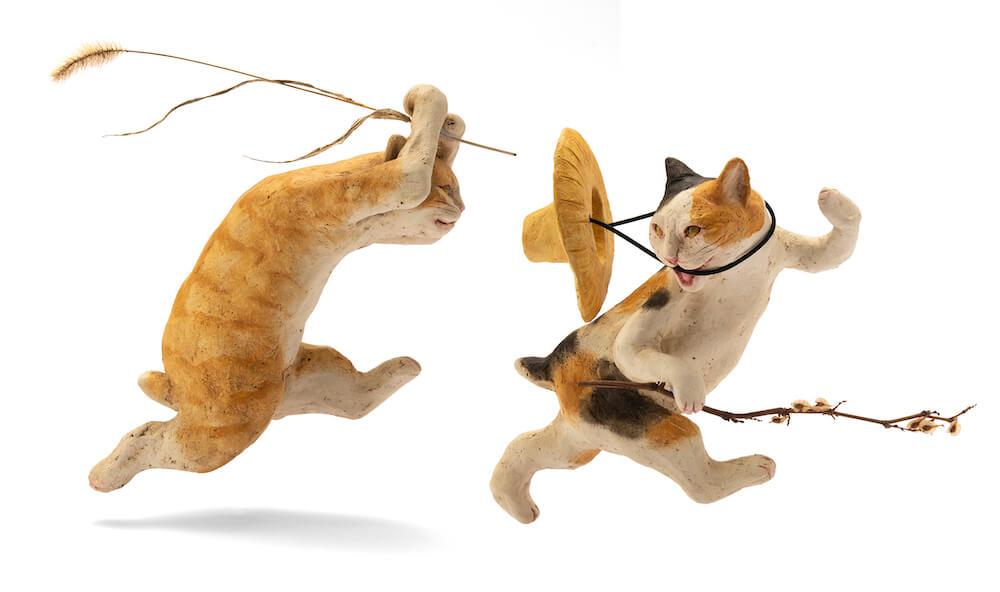 猫の陶芸作品 by 小澤康麿