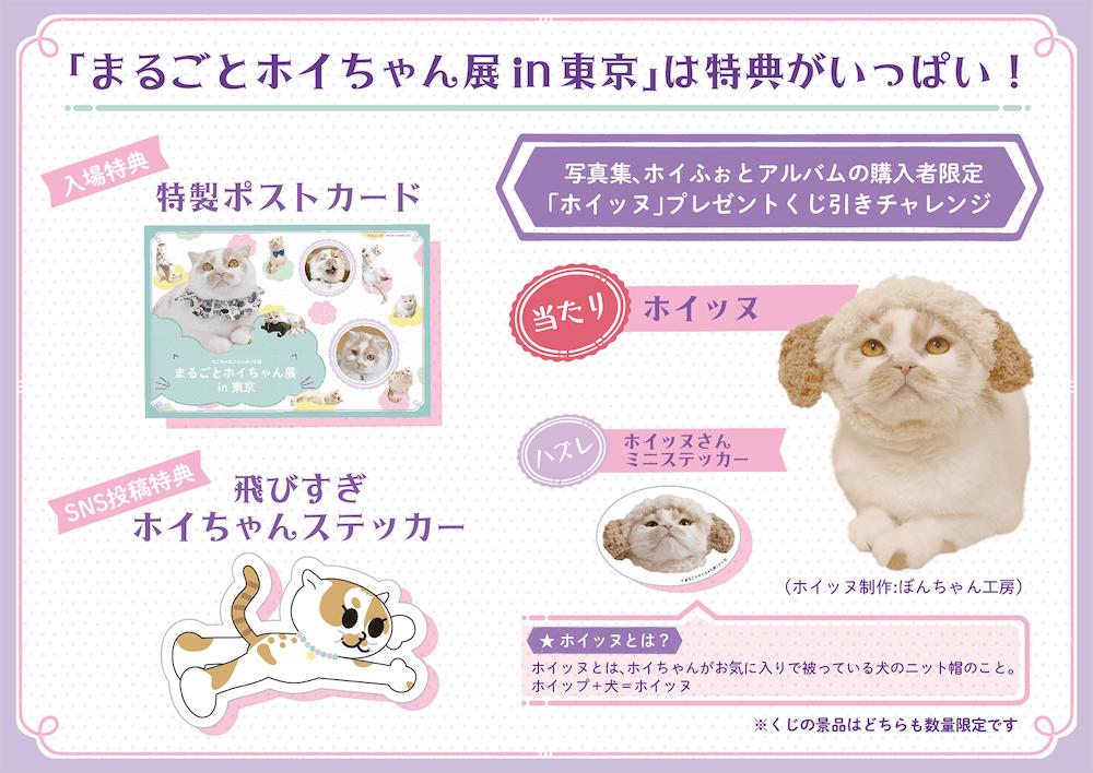 「まるごとホイちゃん展 in 東京」の特典イメージ