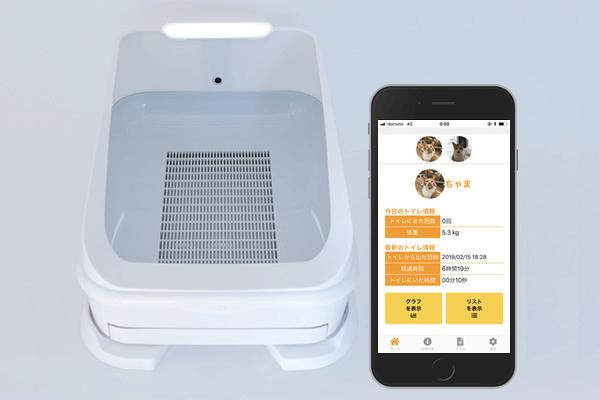 スマート猫トイレ「toletta(トレッタ)」本体+スマホアプリのイメージ