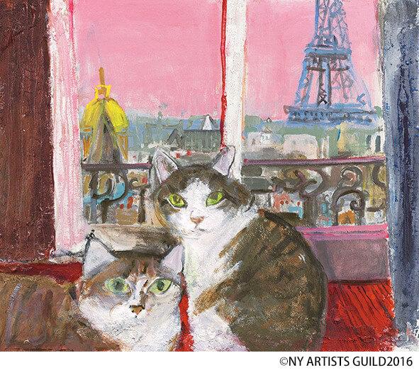 猫の絵画 by マンハッタナーズ