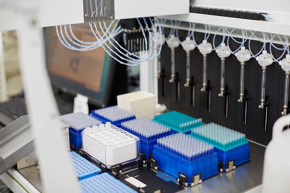 アニコムの先進医療研究所内の医療機器イメージ
