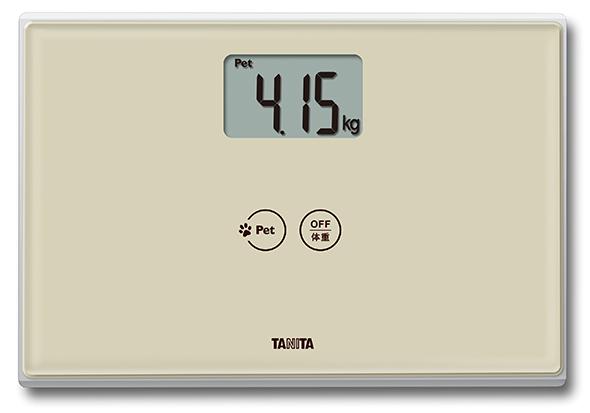 ペット兼用の体重計「デジタルヘルスメーター CA-100 アイボリー」の製品イメージ