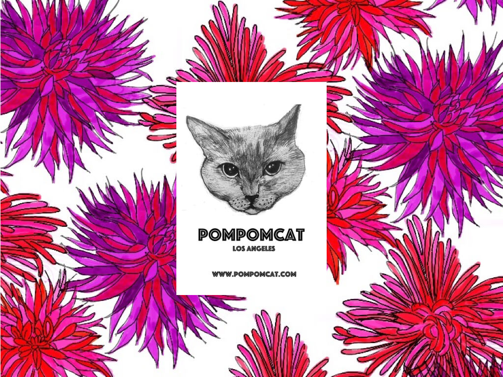 「POMPOMCAT ネコのいる暮らし展Vol.6 ~California Cat Life Style~」メインビジュアル