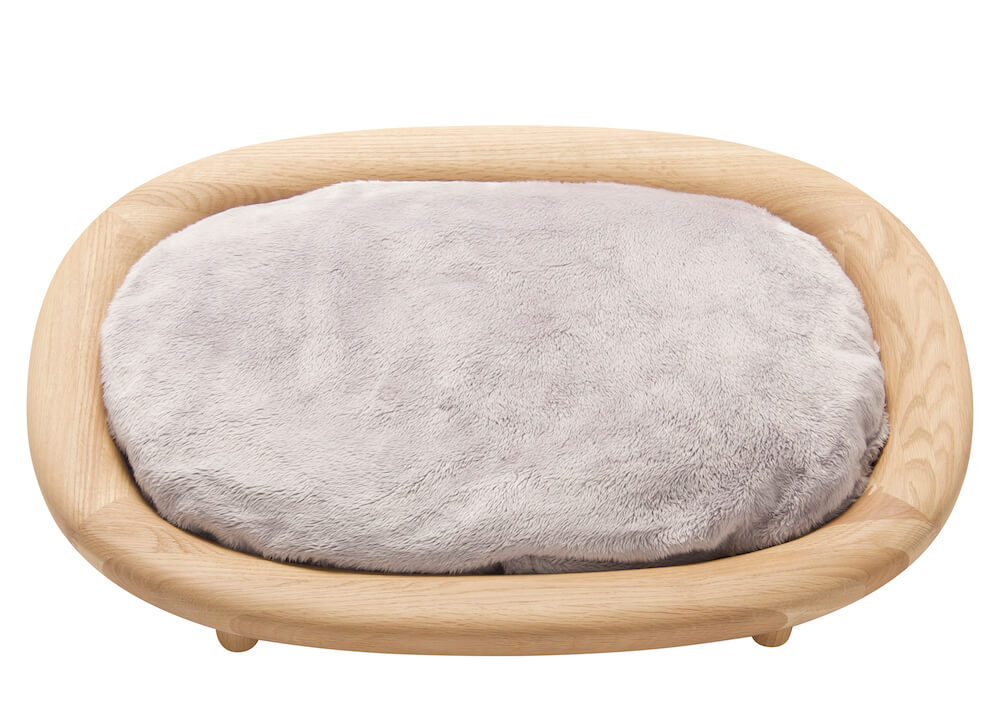 KARIMOKU CAT BEDライトグレー&ピュアオーク