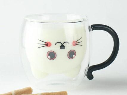飲み物を注ぐと猫が出現!ダブルウォールグラスのGOODGLASから新作「ねこマグ」が登場
