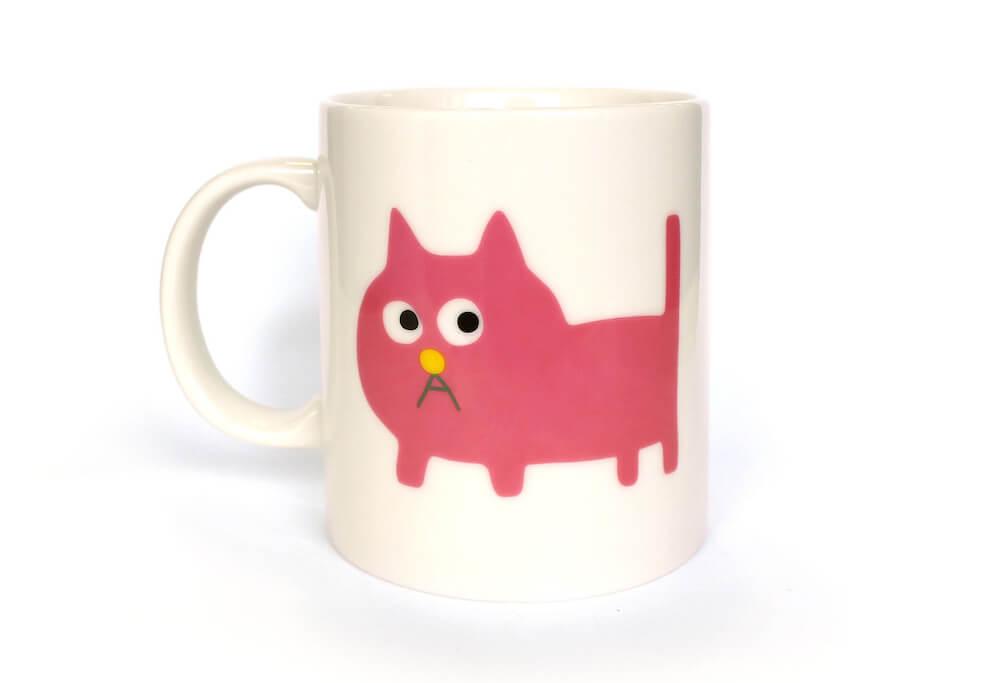 「ピンクの猫の小林さん」マグカップ