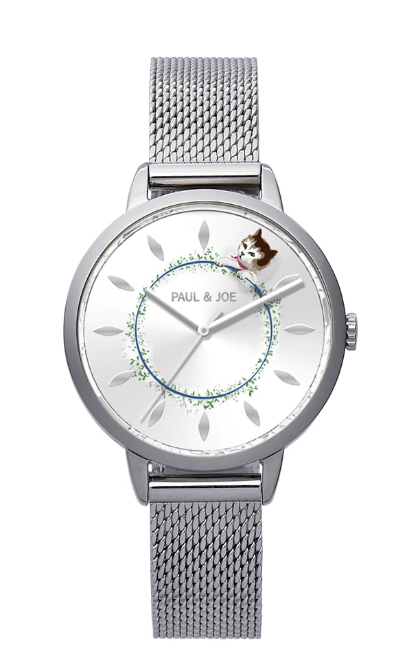 PAUL & JOEの猫モチーフ腕時計「Timeless Cat(タイムレスキャット)」シルバーカラー