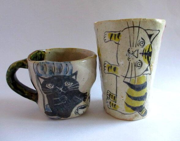 猫のマグカップ&フリーカップ by佐藤大士