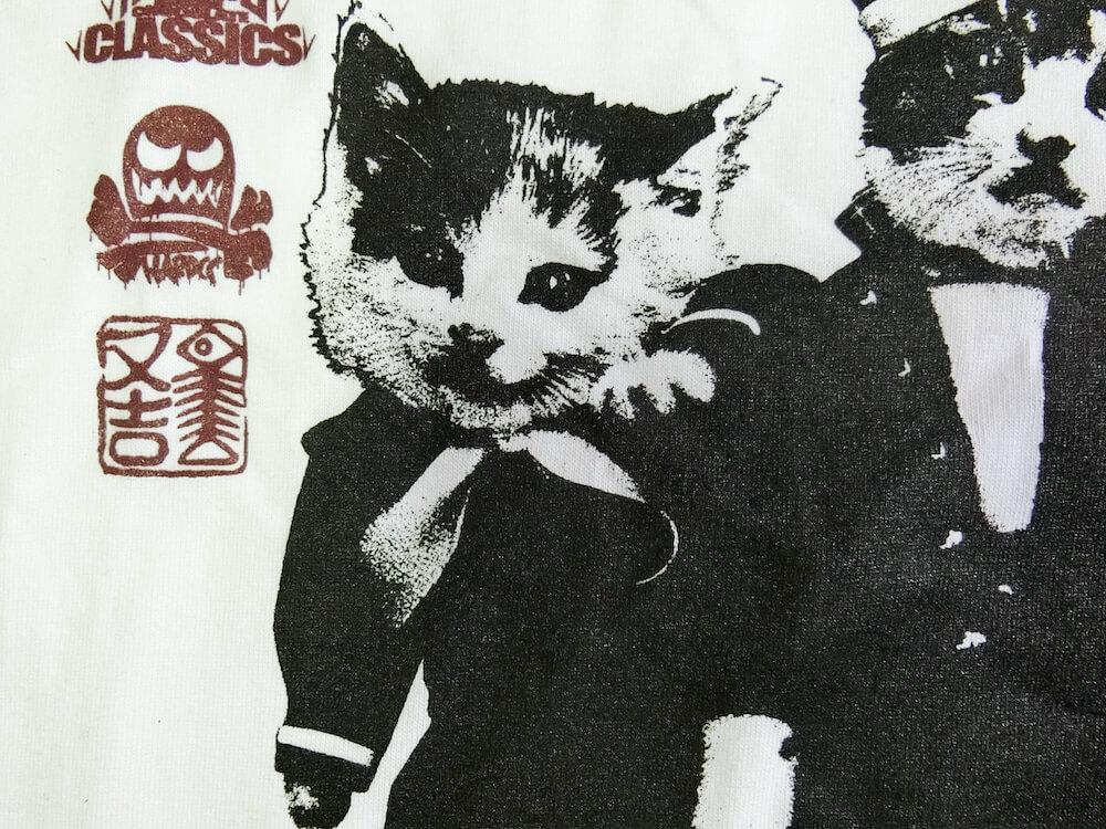 Tシャツ「なめ猫-NAMENNAYO-(又吉とミケ子ホワイト)」のなめ猫拡大画像