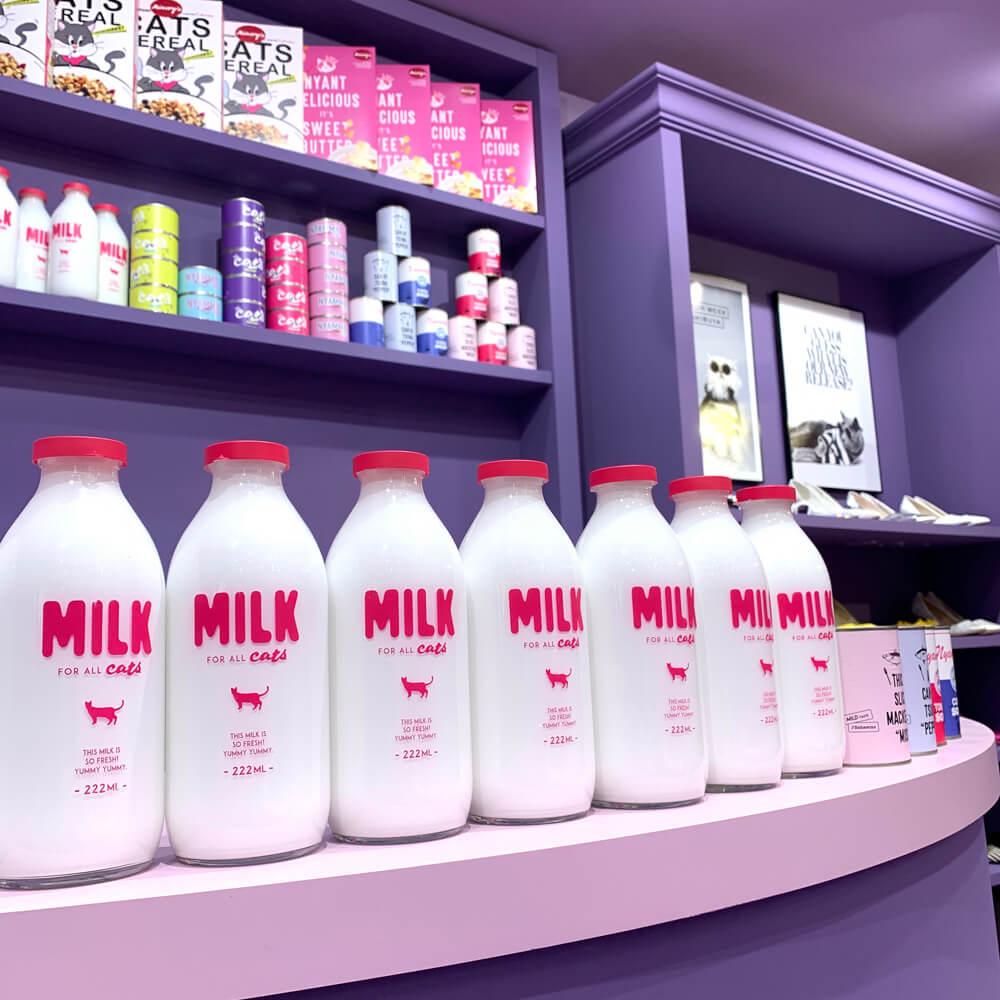 「moreru mignon(モレルミニョン)」SHIBUYA109店にディスプレイされたミルク