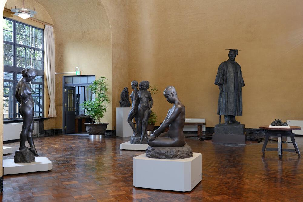 朝倉彫塑館のアトリエ