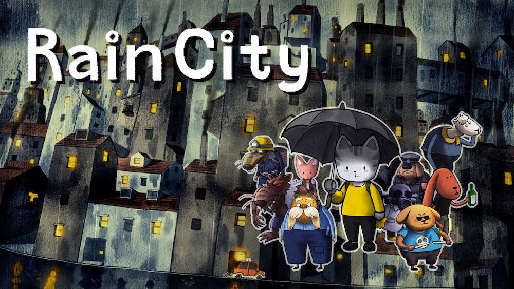 Nintendo Switch&PlayStation4向けアドベンチャーゲーム「Rain City(レインシティ)」のメインビジュアル