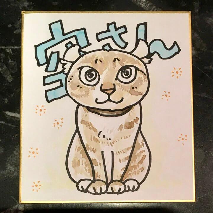 一志敦子さんの猫のライブペインティング