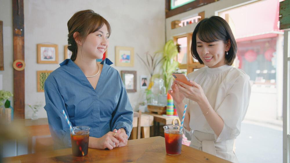 女性同士の会話シーン by スマカメのテレビCM「NEKKO」編