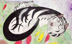 猫を好んで描いたアメリカの路上画家「ミリキタニ」と12名の作家による作品展が6/11〜開催