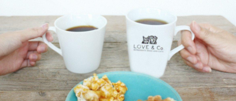 猫の里親募集を兼ねたコーヒー&雑貨ブランドを展開しているLOVE & Co.(ラブコ)