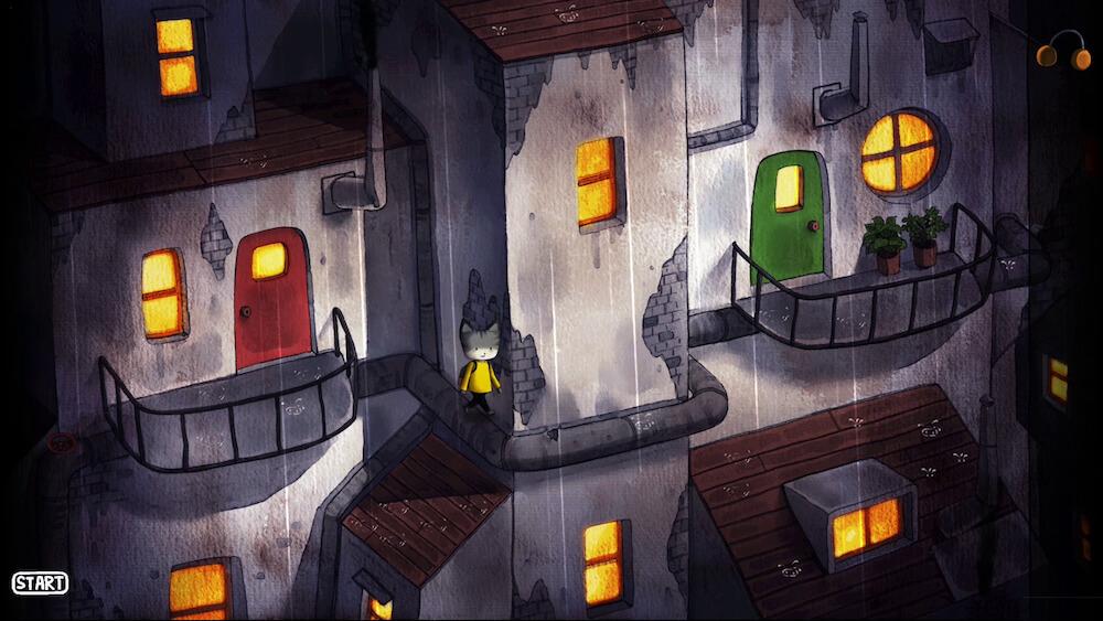 雨が振り続く街を探索する猫 by Rain City(レインシティ)