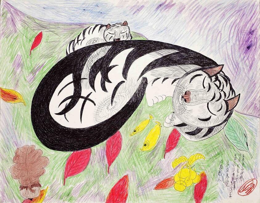 「アートの力 -猫のまなざし- オマージュ・ミリキタニ展」展示作品イメージ1