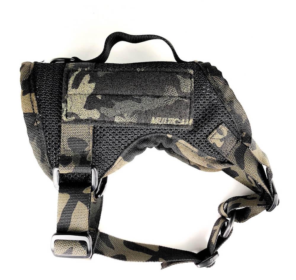 ペット用のハーネス(M1 Tactical Dog Harness Mesh Body)、マルチカムブラックカラーの製品イメージ