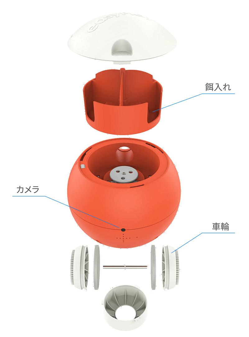 ペット用の球体型おもちゃ「easyPlay(イージープレイ)」の製品構造