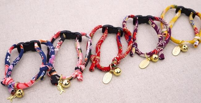 「ちりめん猫首輪」の製品イメージ