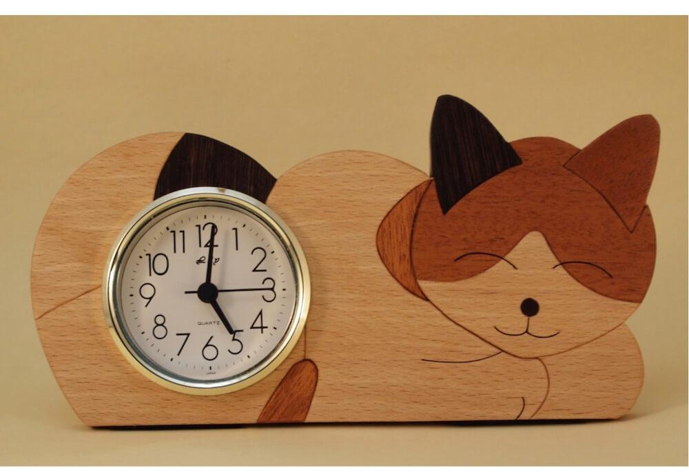 組み木卓上時計 by 木工房さかい