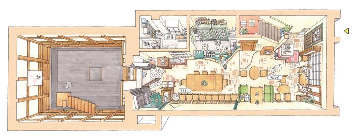 ギャラリー・エフ(浅草)の店内俯瞰図