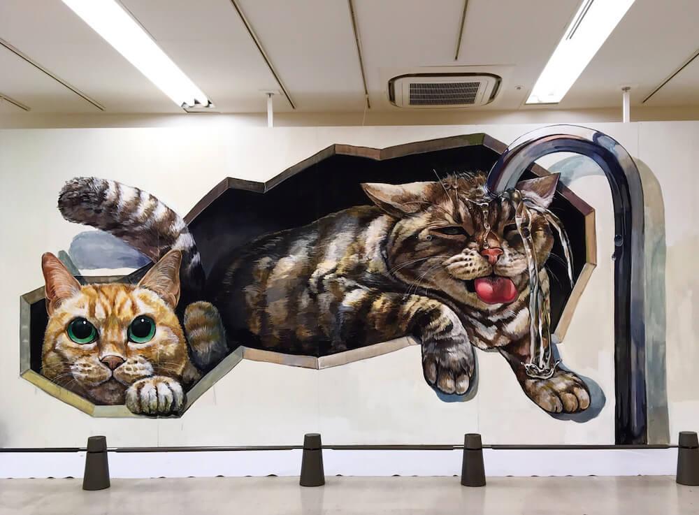 なごむの超巨大壁画 by チョーヒカル