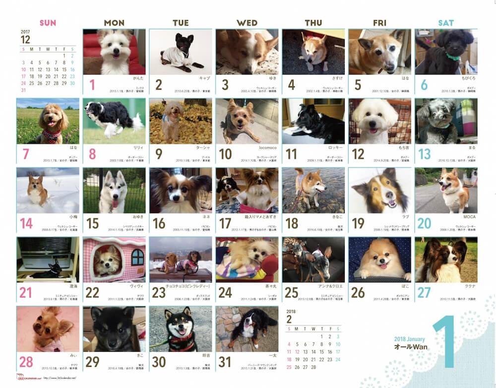 「365(サンロクゴ)カレンダー」のエントリー画面イメージ