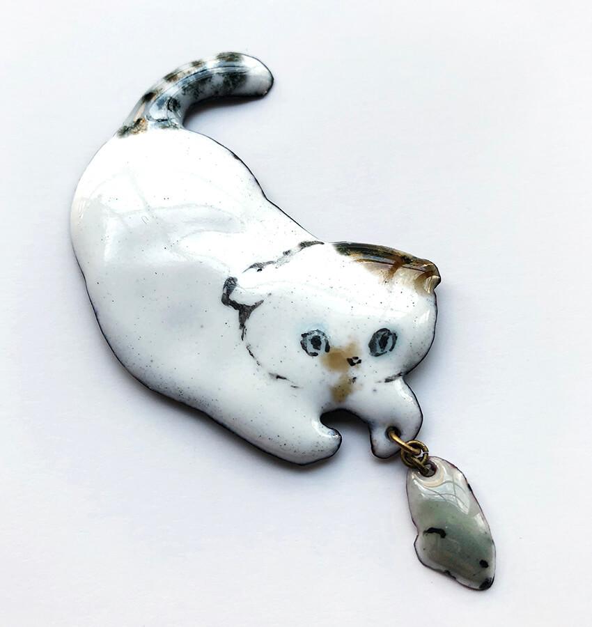 猫のブローチCat's ISSUE ポップアップストア@DOORS HOUSE