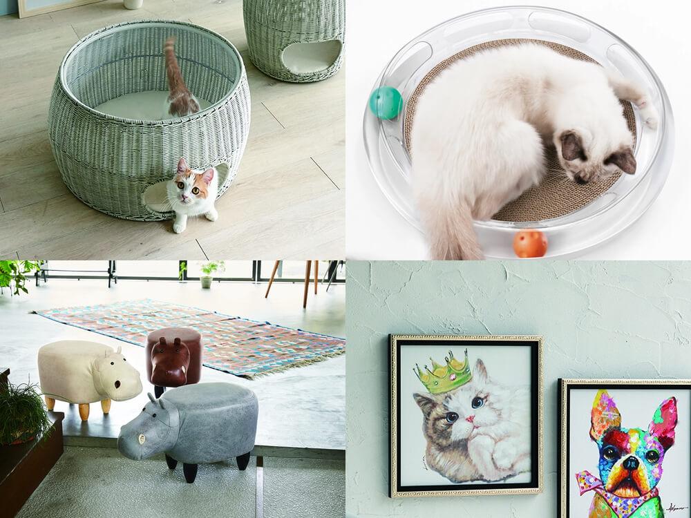 ディノスのインテリアブランド「HOUSE STYLING」の猫用品&猫グッズイメージ