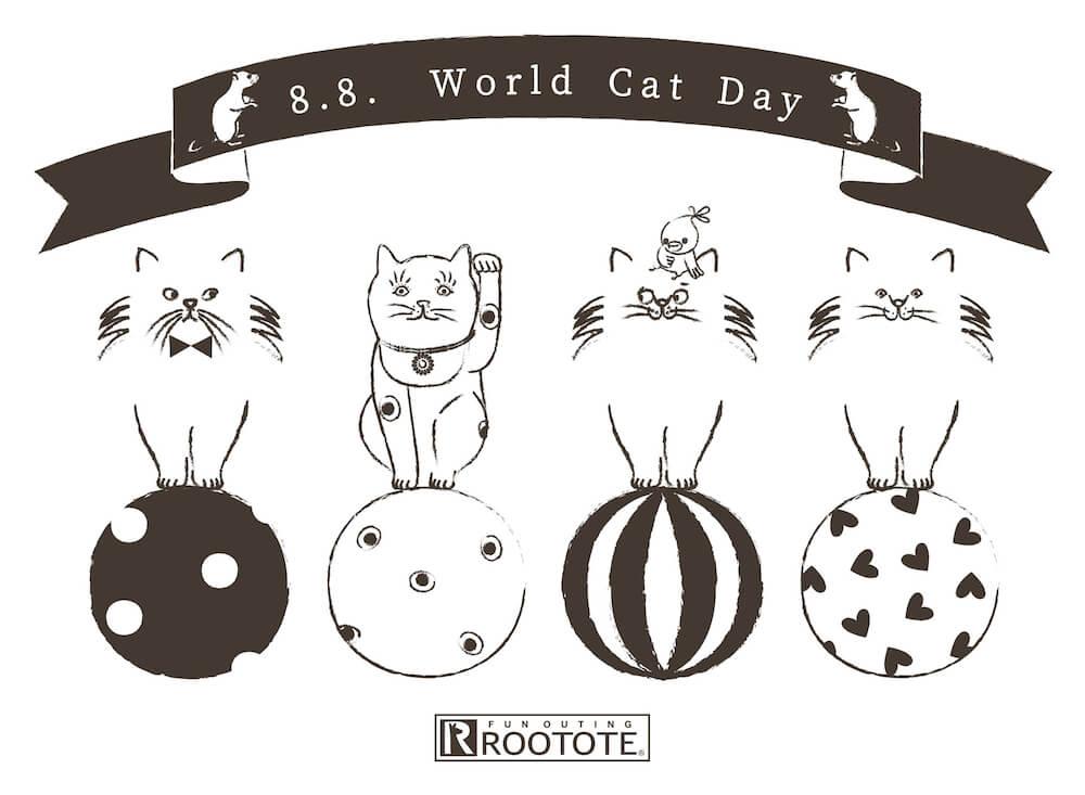 ROOTOTE(ルートート)の世界猫の日イベント、メインビジュアル