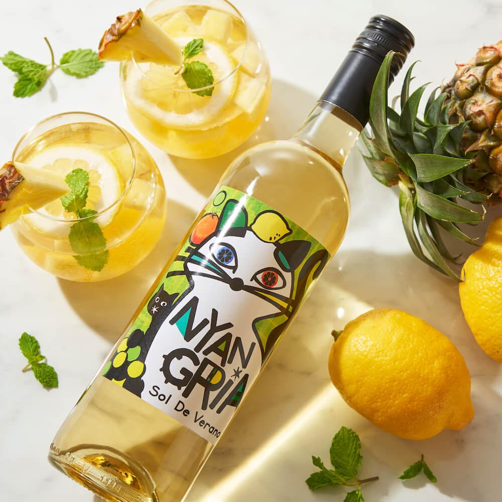 猫ラベルのワイン「ソル・デ・ベラーノ ニャングリア ホワイト」by カルディ