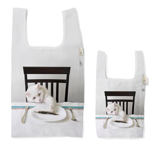 猫のトートバッグ、ルーショッパー アニマルプリント by ROOTOTE(ルートート)