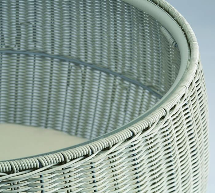 ラタン調の猫ちぐらの透明なアクリル板 by ディノス「HOUSE STYLING」