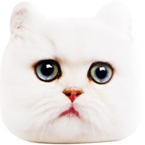 猫のモバイルバッテリー「にゃんこチャージ」ペルシャ猫のデザイン