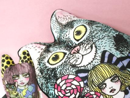 イラストレーターの巨匠・宇野亞喜良が愛猫をモチーフにした製品シリーズ「SUNACO」を発表