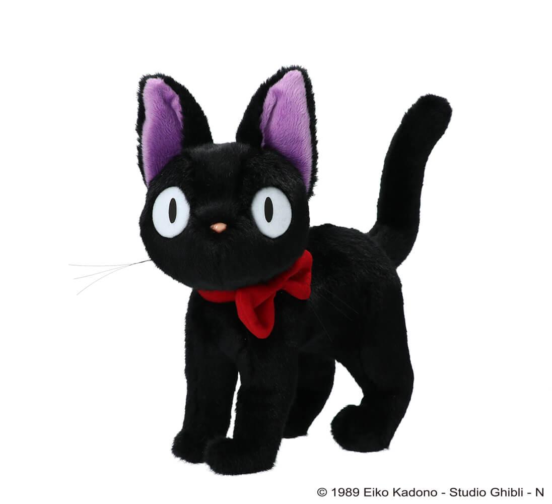 四つ足ポーズの黒猫ジジのぬいぐるみ by 「魔女の宅急便」公開30周年記念