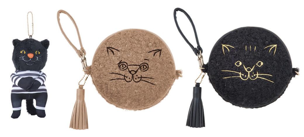 黒猫のチャーム&猫のラウンドポーチ by ROOTOTE(ルートート)